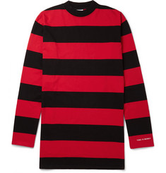 Vetements - Oversized Striped Cotton-Jersey T-Shirt