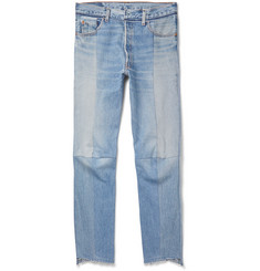 Vetements Levi's Slim-Fit Panelled Denim Jeans