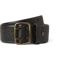 RRL 4.5cm Black Reade Leather Belt