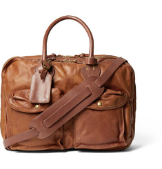 RRL Cargo Leather Holdall