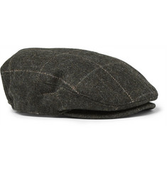RRL Checked Wool Flat Cap