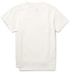 Velva Sheen Two-Pack Slim-Fit Slub Cotton-Jersey T-Shirts