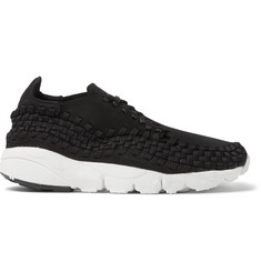 Nike NikeLab Air Footscape Nubuck-Trimmed Woven Mesh Sneakers