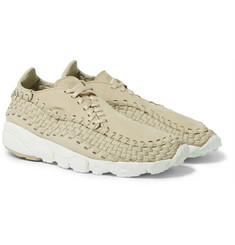 Nike - NikeLab Air Footscape Nubuck-Trimmed Woven Mesh Sneakers