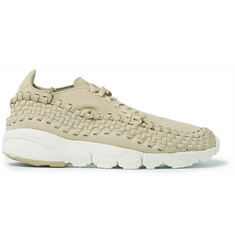 Nike NikeLab Air Footscape Nubuck and Woven Mesh Sneakers