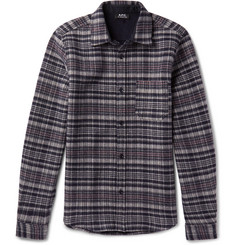 A.P.C. - Slim-Fit Trevor Checked Wool-Blend Overshirt