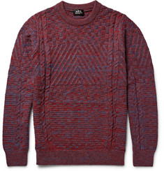 A.P.C. Wexford Textured Mélange Virgin Wool Sweater