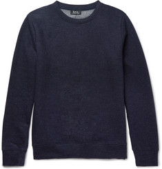 A.P.C. Jeremie Wool and Cotton-Blend Sweatshirt