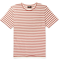 A.P.C. Ken Striped Cotton-Jersey T-Shirt