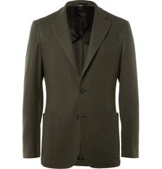 Hardy Amies Green Slim-Fit Cashmere Blazer