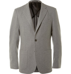 Hardy Amies Grey Slim-Fit Cashmere Blazer