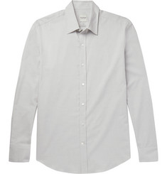 Hardy Amies Mélange Cotton-Twill Shirt