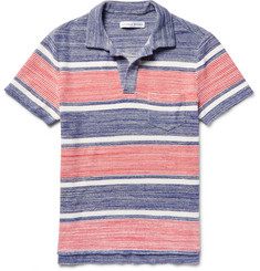 Orlebar Brown Ronald Striped Cotton-Terry Polo Shirt
