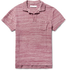 Orlebar Brown - Slim-Fit Mélange Cotton-Terry Polo Shirt
