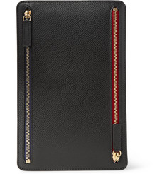 Smythson - Panama Cross-Grain Leather Currency Case