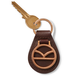 Kingsman - + Deakin & Francis Leather and Rose Gold-Plated Key Fob