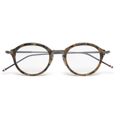 Thom Browne Round-Frame Tortoiseshell Acetate and Metal Optical Glasses