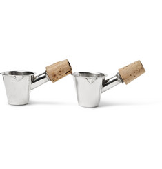 Foundwell Vintage - 1930s Jigger-Shaped Silver and Cork Bottle Stoppers