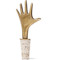 Foundwell Vintage - 1950s Carl Auböck Brass and Cork Bottle Stopper