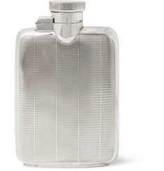 Foundwell Vintage - 1937 Asprey Engine-Turned Sterling Silver Hip Flask