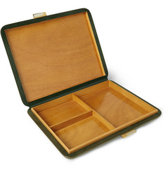 Foundwell Vintage 1950s Lacquered Leather Jewellery Box