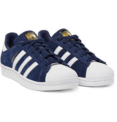 Adidas Originals - Superstar Leather-Trimmed Suede Sneakers