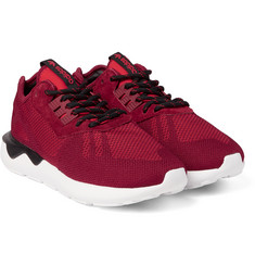 Adidas Originals - Tubular Runner Weave Suede-Trimmed Mesh Sneakers
