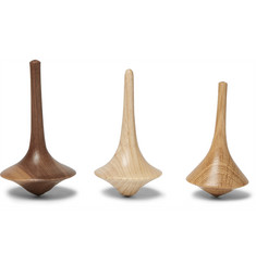 Folk - Wooden Spinning Top Set
