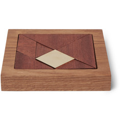 Folk Wood and Brass Tangram Game