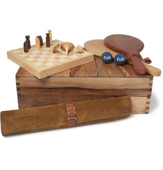 Folk - Wood and Suede Games Set