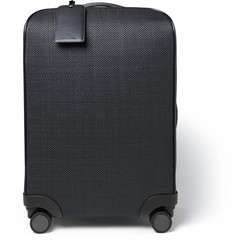 Ermenegildo Zegna Pelle Tessuta Leather Trolley Case