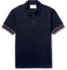 Gucci Slim-Fit Stretch-Cotton Piqué Polo Shirt