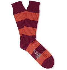 Corgi - Striped Wool and Cotton-Blend Socks