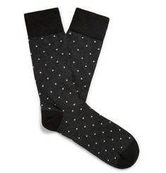Corgi - Polka-Dot Cotton-Blend Socks