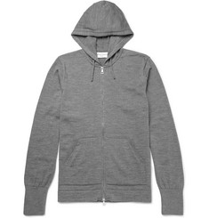 Officine Generale Merino Wool Zip-Up Hoodie
