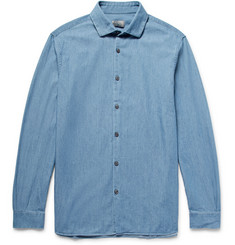 Club Monaco Slim-Fit Cotton-Chambray Shirt