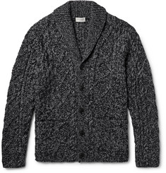 Club Monaco - Shawl-Collar Cable-Knit Cardigan