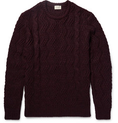 Club Monaco Mélange Cable-Knit Sweater