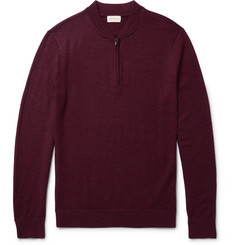 Club Monaco Mélange Merino Wool Half-Zip Sweater