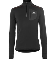 Salomon Trail Runner AdvancedSkin Stretch-Jersey Half-Zip Mid-Layer Top