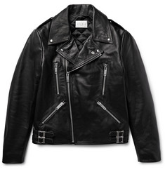 Sandro Padded Leather Biker Jacket