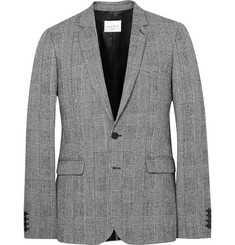 Sandro Grey Slim-Fit Prince of Wales Checked Wool and Cotton-Blend Suit Jacket