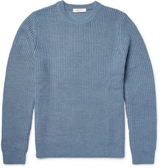 Sandro Ribbed Merino Wool-Blend Sweater