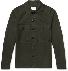 Sandro Slim-Fit Cotton-Flannel Overshirt