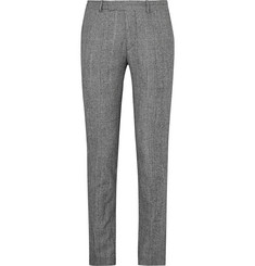 Sandro Slim-Fit Prince of Wales Checked Wool And Cotton-Blend Suit Trousers