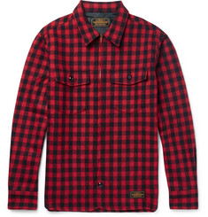 Neighborhood Slim-Fit Buffalo-Checked Wool-Blend Overshirt