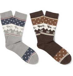 Neighborhood Two-Pack Wool Socks