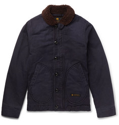 Neighborhood Deckhand Faux Shearling-Trimmed Cotton-Canvas Jacket