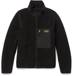 Neighborhood Shell-Trimmed Fleece Zip-Up Jacket