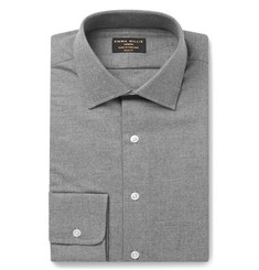 Emma Willis Grey Slim-Fit Brushed-Cotton Shirt